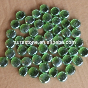 Cheap price Artificial crystal glowing glass pebbles for swimming pool decoration