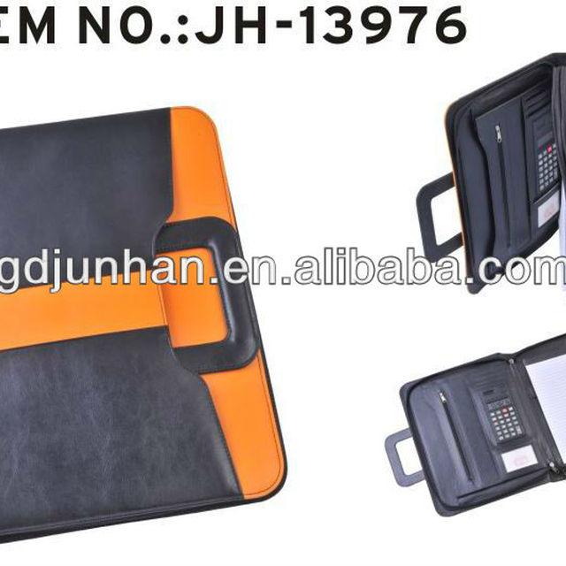 zipper portfolio with handle