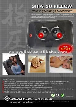 Shiatsu Pillow - 4 rolling massaging balls with heat