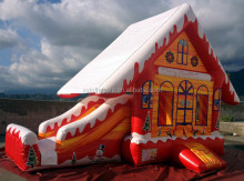 Christmas theme inflatable gingerbread house bouncer