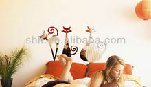 Shanghai lingfeng adhesive decor wall mirror sticker 55