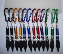 2013 ballpoint pen of classical style with climbing button carabiner