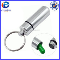 Aluminum Waterproof Medicine Container Bottle Case KeyChain Pill Box