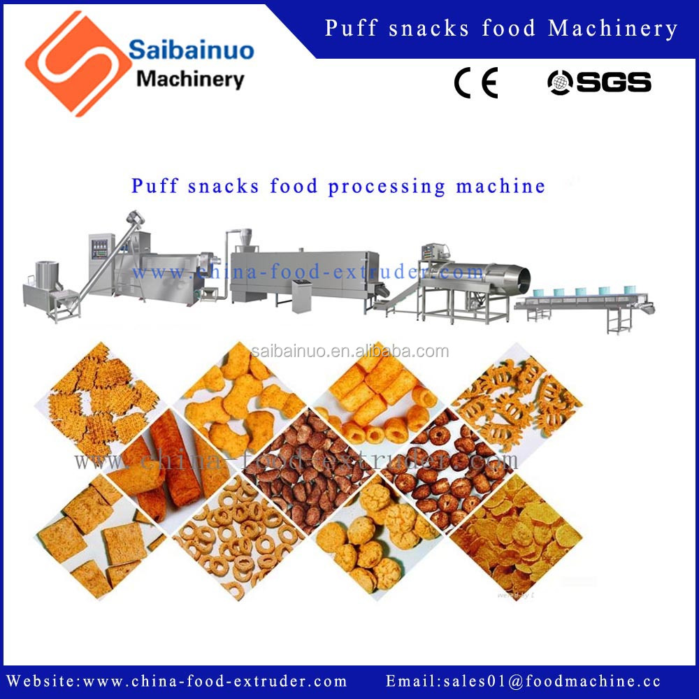 Best Selling Roasted Crispy Corn Puff Snack Food Machinery