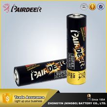 100% factory directly 1.5v aa size alkaline dry battery