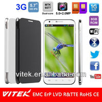 Hot 5.7 inch HD IPS 3G china mobile phone prices