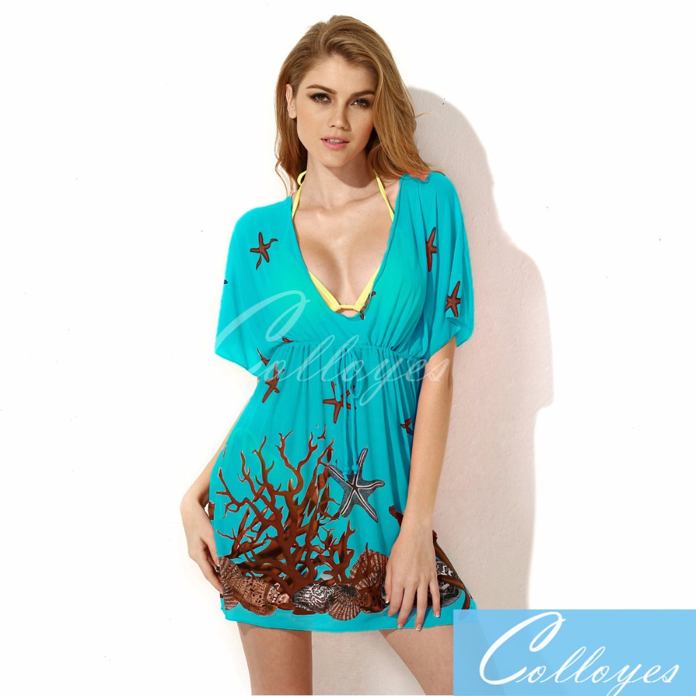 Best selling girls floral print dress swimwear products beach dress thailand