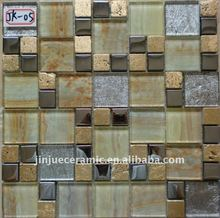 Stainless Steel Mixed Glass Mosaic hand make tile