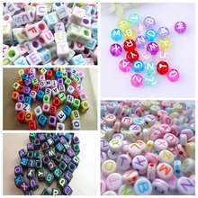 Custom Plastic Single Letter Alphabet Beads
