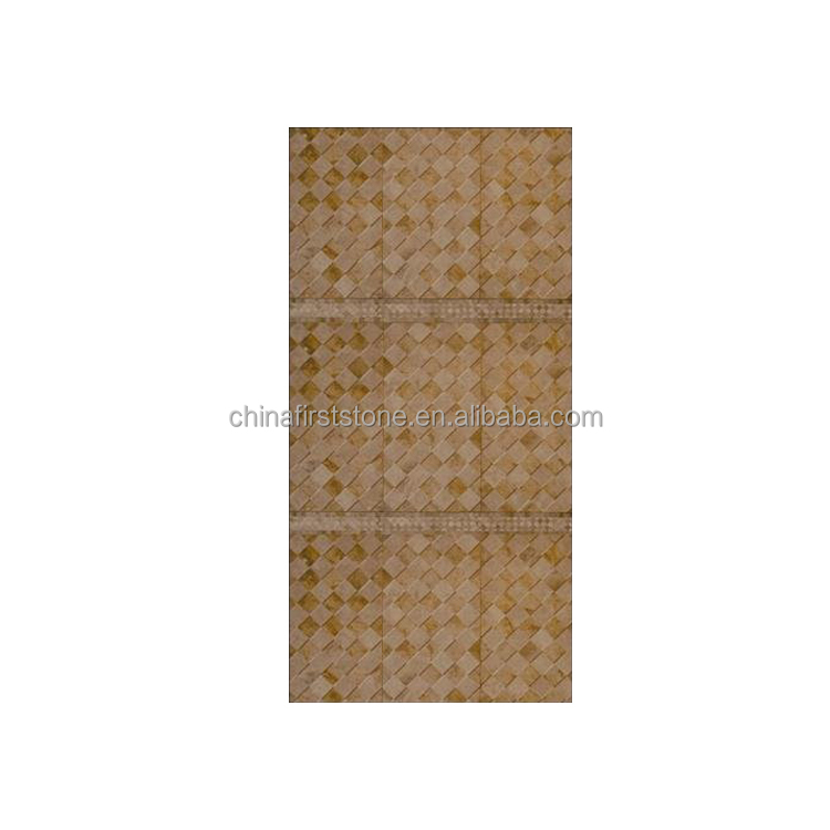 China Good Quality Low Price Natural Wall Travertine Mosaic SLM001-17