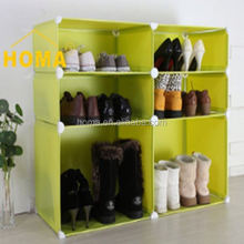 bedroom furniture DIY Simple design metal wall shoe rack