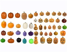 2018 chinese supplier new products halloween pumpkin carving plastic pumpkin light jack O lantern