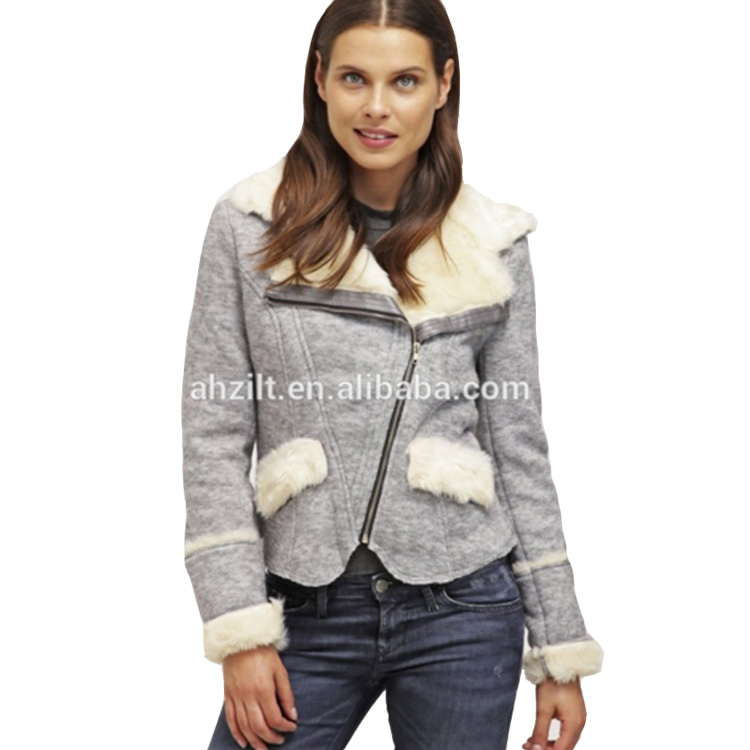 New Style Women Fur Lining Winter Jacket