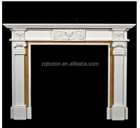 2016 Antique Natural Stone Double Fireplace