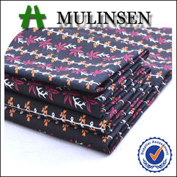 High Quality Mulinsen Textile Woven Printed Stretch Cotton Fabric Sateen for Women Trousers