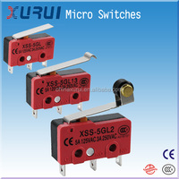 miniature push button on-off switch / roller lever mini micro switch / micro switch 5a 250vac