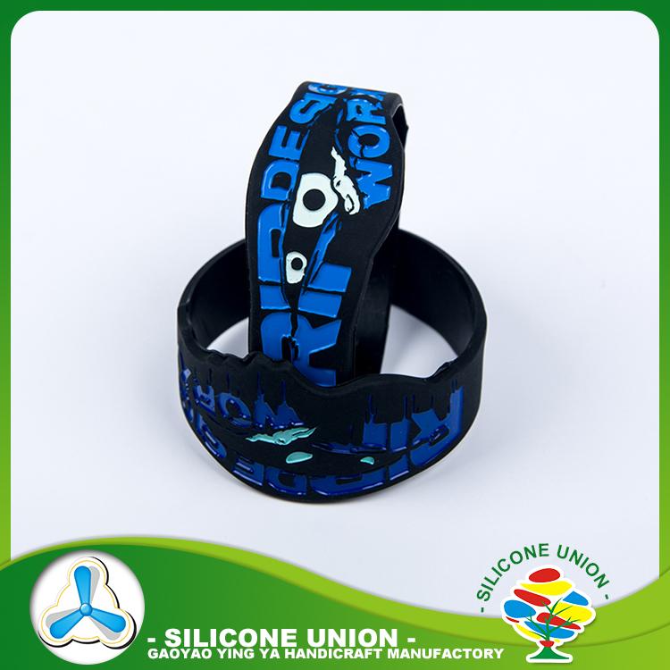 Publicidade logotipo personalizado pulseira de borracha de silicone