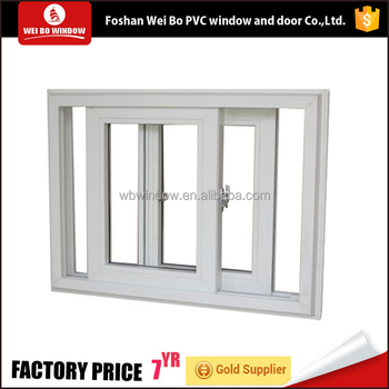 Cost-effective two track sliding window pvc upvc window for house