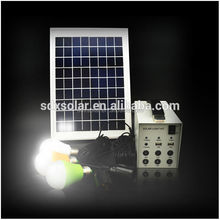 10W Home Solar Lighting System, Solar Energy Systems With Battery Storage 7Ah