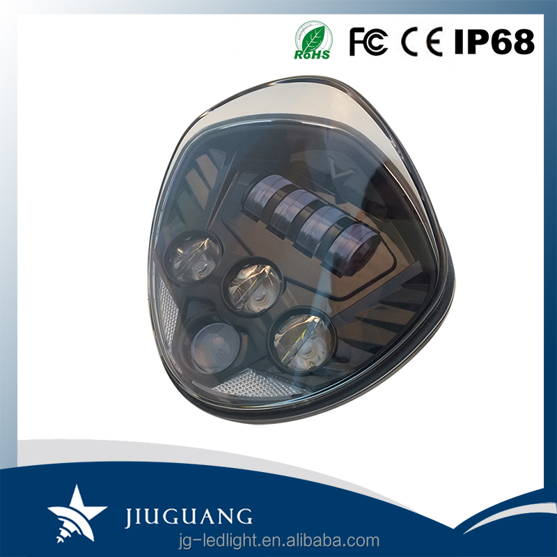 Motorcycle Replacement High Low Beam IP67 60W 6600LM LED Headlight Conversion Kit For Victory