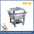 MUK wholesale restaurant straight-leg type steel buffet food serving chafing dish