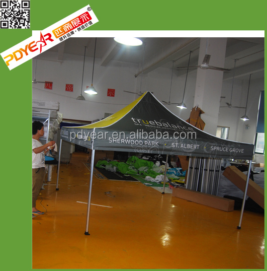 retail advertised folding printed gazebo tent