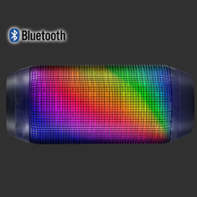 Supper bass colorful water proof ibastek bluetooth speaker with led light