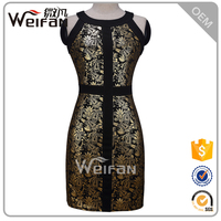 Latest Fashion Dress A Line Cross Sleeveless Short Tight Sexy Modal Flower Mature Ladies Dresses