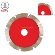 Hot and Cold press Segment continuous rim strong turbo laser diamond saw blade for marble