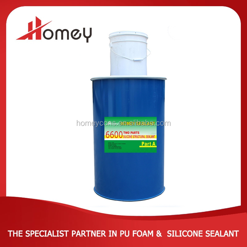 Homey 6600 two parts glass panel fast dry glass silicone sealant from top 10 silicone sealant manufacturer