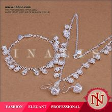 Popular overstock silver plating philippines jewelry set S157