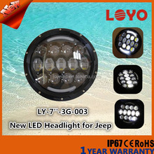 Promotion angel eye led head lamp 7inch leds head light for jeep wrangler accessories