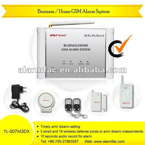 latest gsm wireless home security alarm system gsm alarm system wireless burglar Business/Home GSM Alarm System YL-007M3DX