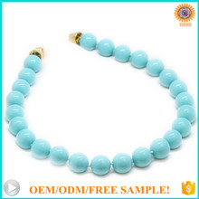 AAAA+ 10mm round turquoise authentic shell pearl ming pearls necklace