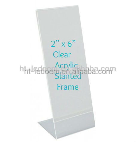 2*6inch Acrylic Slanted Photo Strip Frame - Buy Photo Booth Frame ...