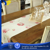 home high quality 100%linen cheap hand embroidered table runner