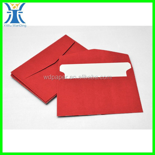 Yiwu newest attractive custom made greeting business card packaging red envelopes a6