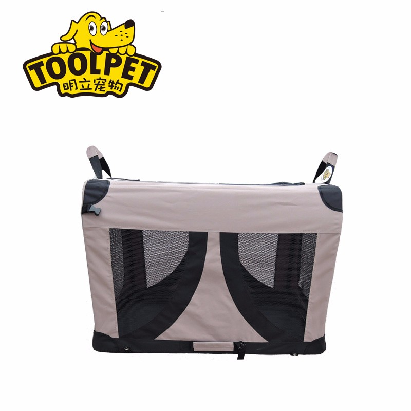 Soft travel dog crate display pet cage