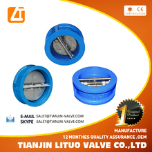 china manufacture DN200 wafer check valve dimensions