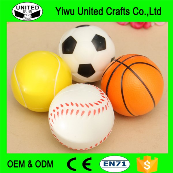 Basketball football style PU high bouncing ball