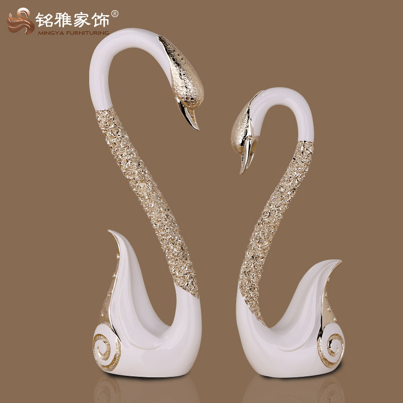 guangzhou art and craft room interior decoration beautiful swan figure for salon decoration