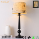 Fabric shape lamp iron lamp for bedside table lamp