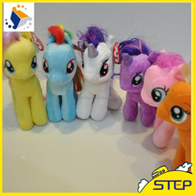 2016 Hot Sale Cute Colorful Stuffed Horse Pony Horse Plush Toys Animal Shaped Soft Toys ST1632514