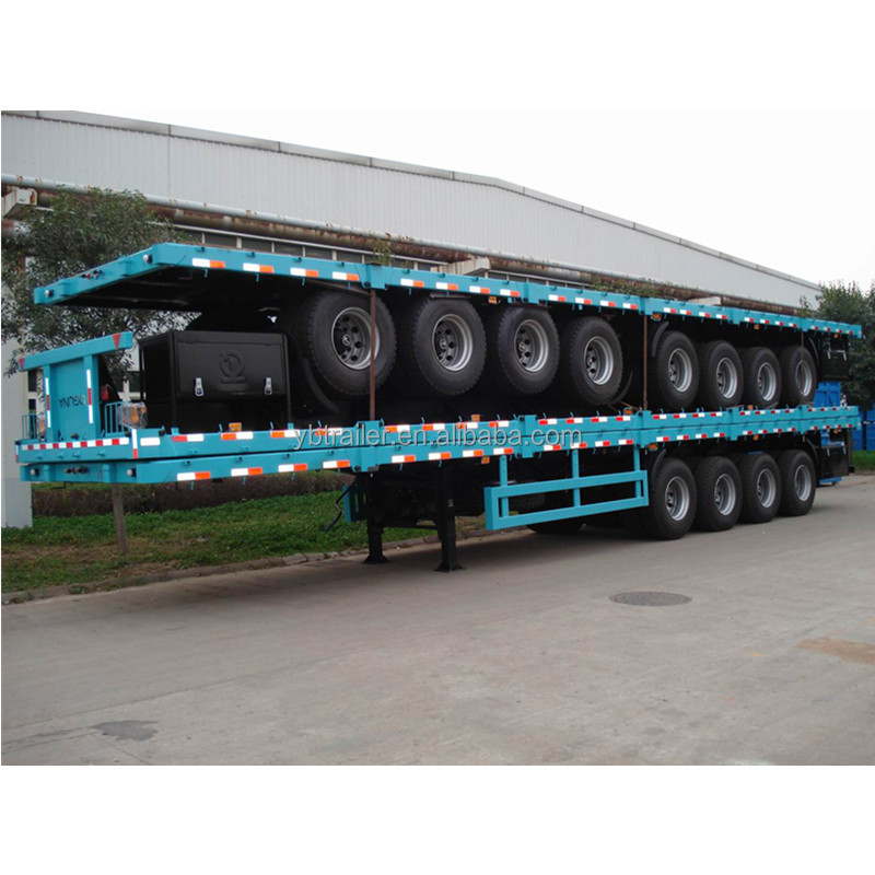 chinese manufacturer platbed container semi trailer with competitive price
