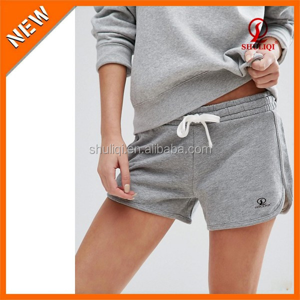 Womens Crossfit Cotton Sweat Yoga Shorts Hot Sex Shorts can Add Your Logo