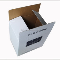 custom printed E flute corrugated board FULL OVERLAPPING CARTON