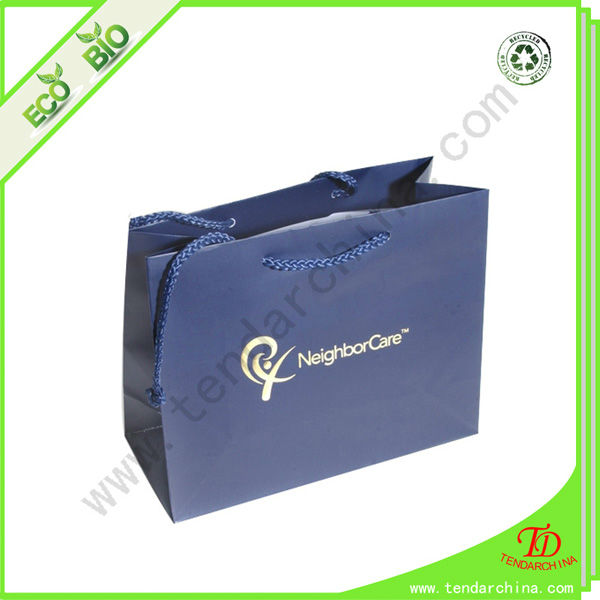 Customized design paper bag for shopping with customer logo
