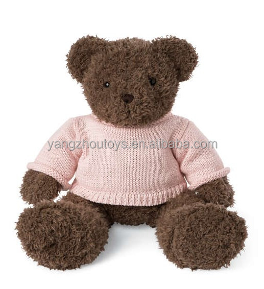high quality custom teddy bear with knitting sweater