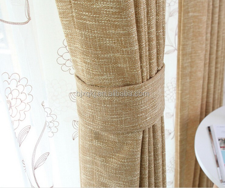 100% Pure Linen Sheer Curtain Fabric
