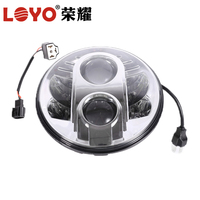 "Hot sale!!! For Jeep Wrangler 7"" led headlight, DOT Round 80w 7 inch led headlight"